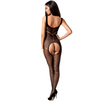 Passion Woman Bs078 Bodystocking Talla Unica Negro