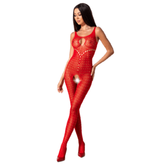 Passion Woman Bs078 Bodystocking Talla Unica Rojo