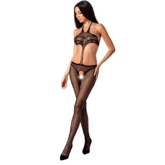 Passion Woman Bs080 Bodystocking Negro Talla Unica