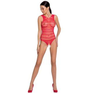 Passion Woman Bs086 Bodystocking Rojo Talla Unica