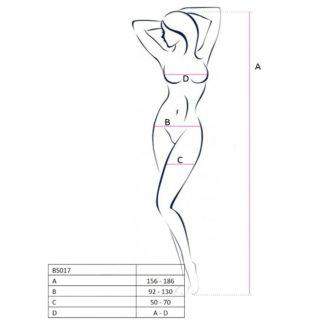 Passion Woman Bs017 Bodystocking Blanco Talla Unica