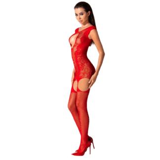 Passion Woman Bs082 Bodystocking Rojo Talla Unica