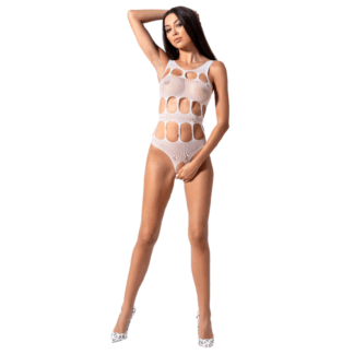 Passion Woman Bs083 Teddy Cuerpo De Red Blanco One Size