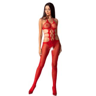 Passion Woman Bs084 Bodystocking Rojo Talla Unica