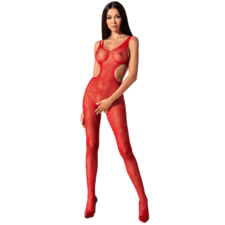 Passion Woman Bs085 Bodystocking Rojo Talla Unica